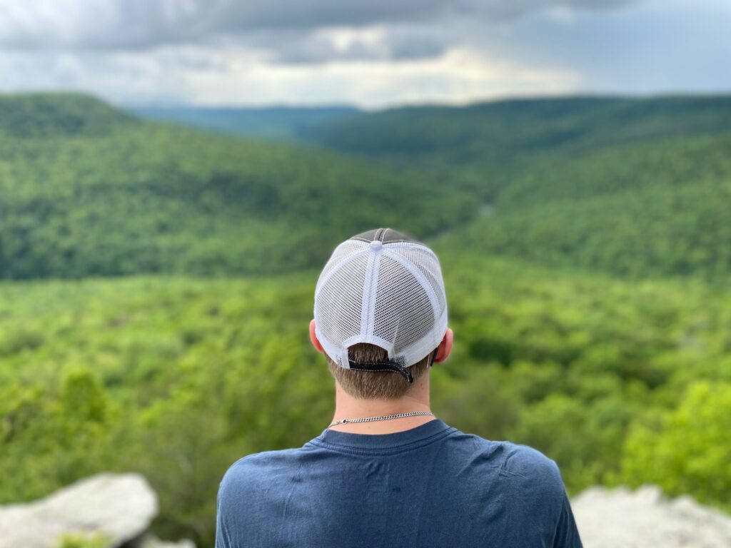 Someone looking out at a landscape in Tennessee