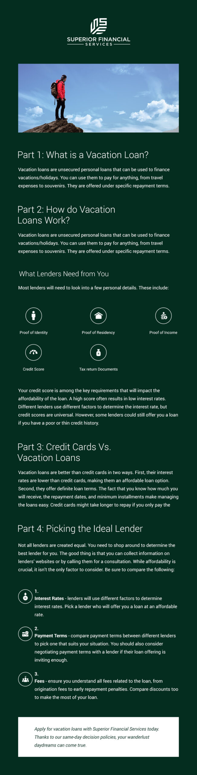 What Is a Vacation Loan?