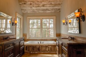 Luxury bathroom remodel in Tennessee made possible with a home improvement loan