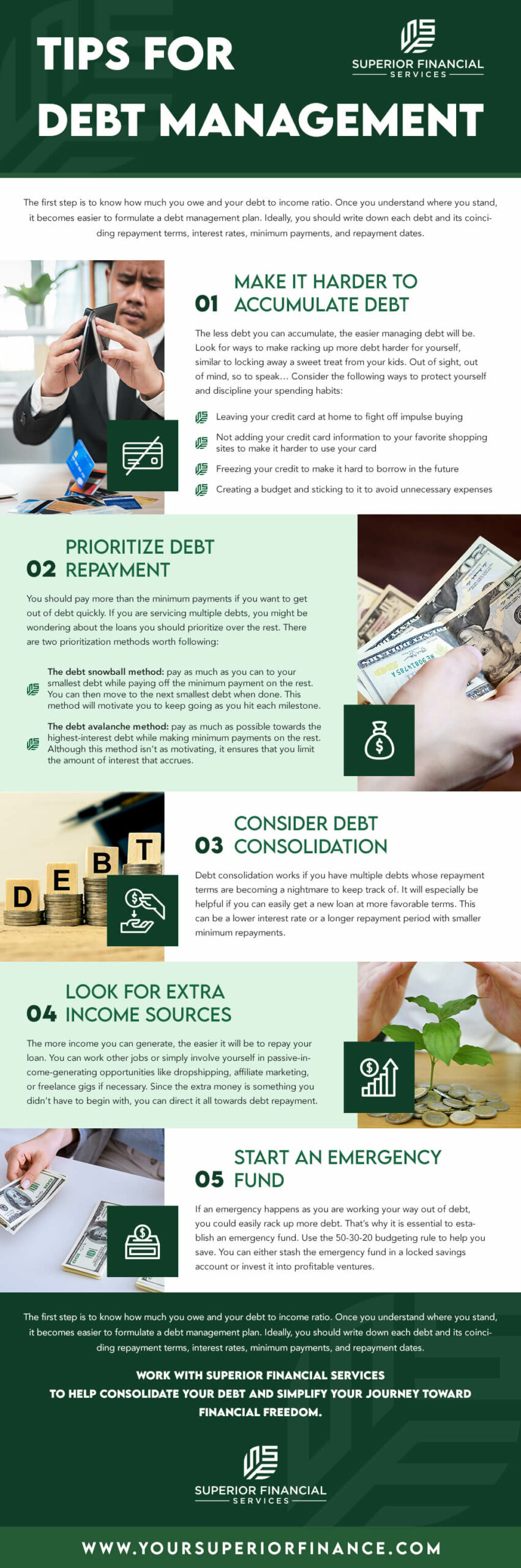 tips-for-debt-management-infographic-superior-financial-services