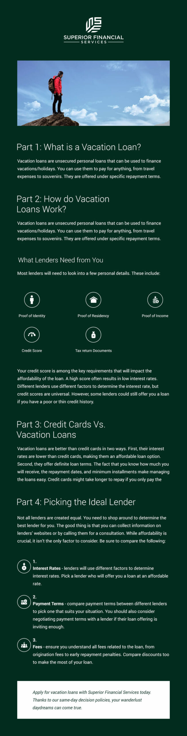 Vacation Loans Infographic